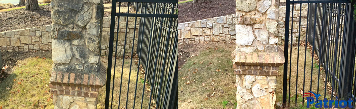 Limestone Fence - Patriot SoftWash