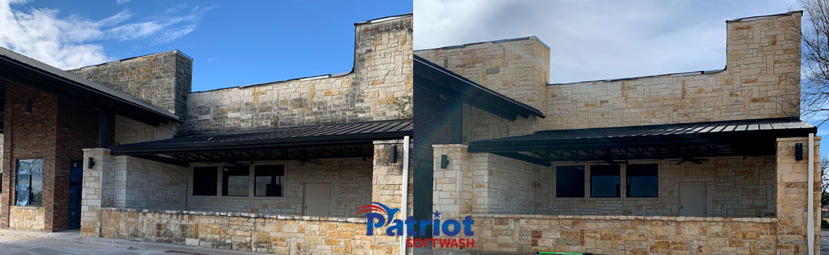 Patriot SoftWash Austin Stone Wall
