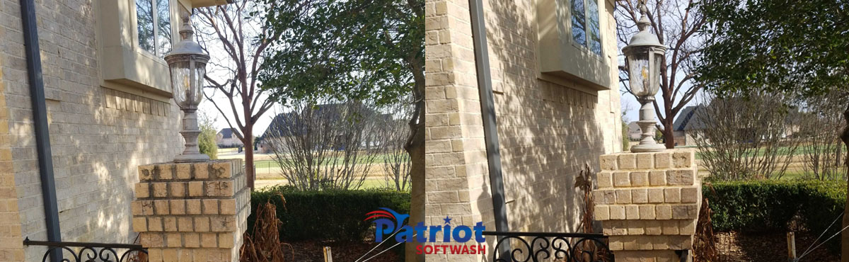 Patriot Softwash Brick Pillar