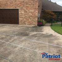 Austin Stone Brick-Concrete Pathway Before - Patriot SoftWash