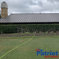 Metal Roof Colleyville Before - Patriot SoftWash