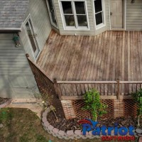 Patio Deck Before - Patriot SoftWash