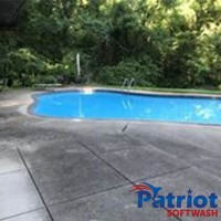 Pool Deck Before - Patriot SoftWash