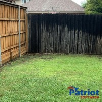Wood Fence Wash Before - Patriot SoftWash